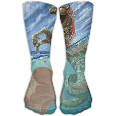 YUANSHAN Socks Horse Hippocampus Women & Men Socks Soccer Sock Sport Tube Stockings Length 11.8Inch