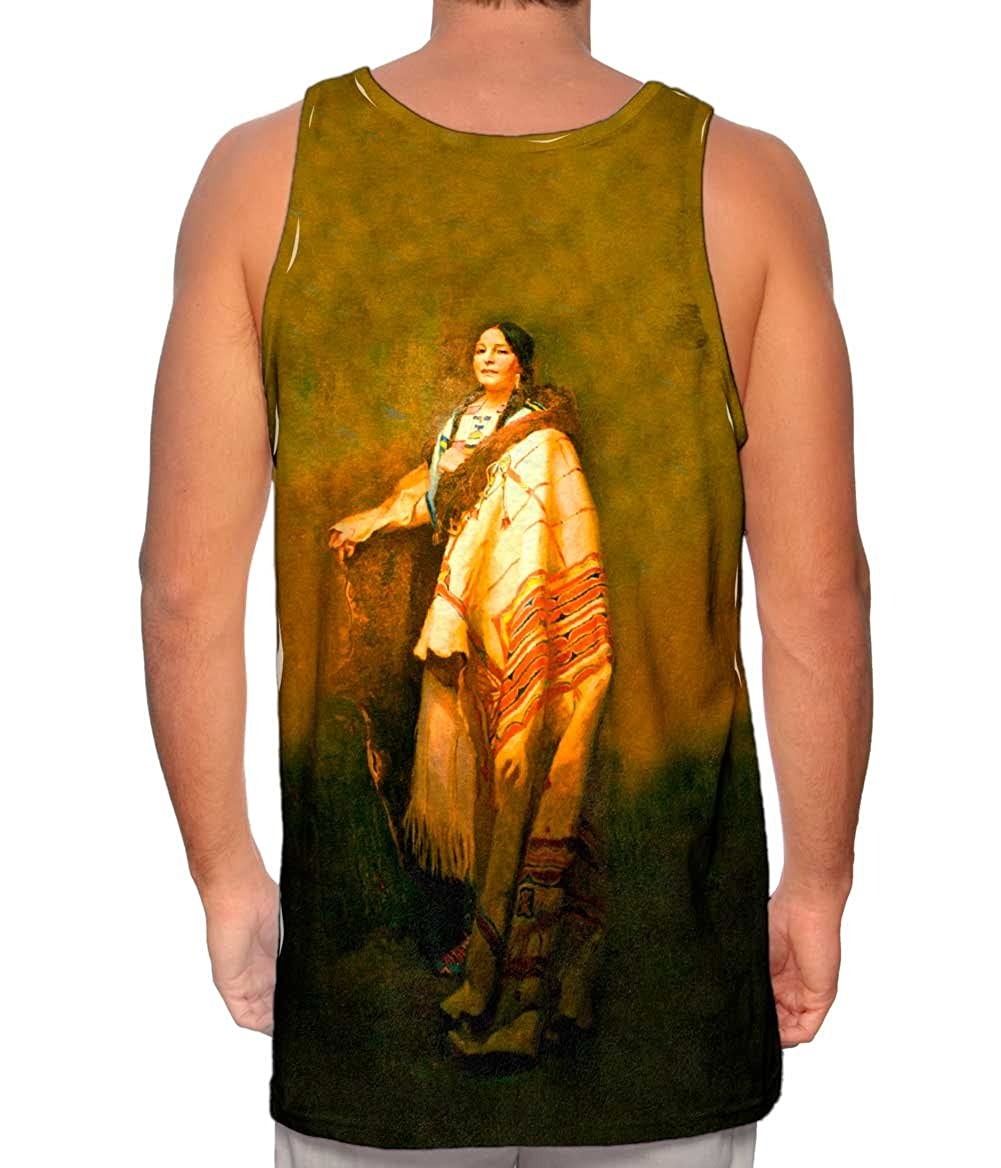 Yizzam Mens Tank Top 2225 Native American Art Handsome.-TShirt