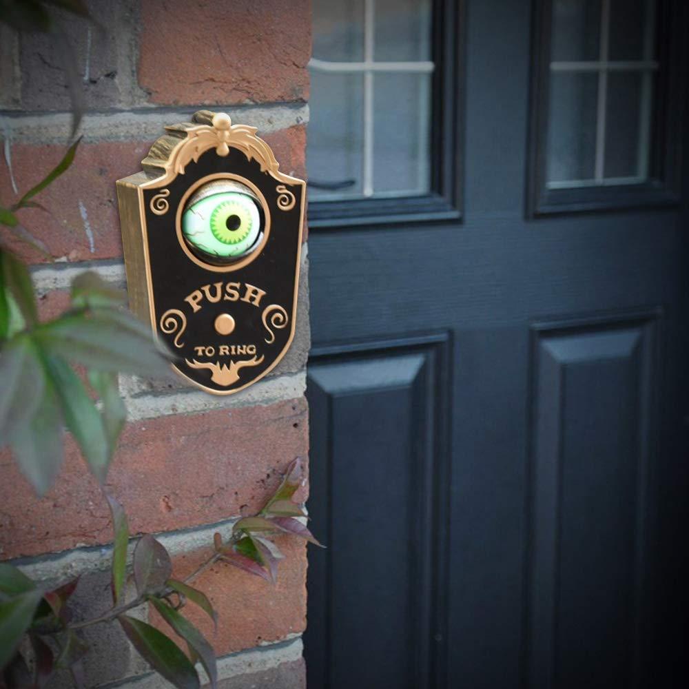 Weehey Halloween Orribili scenari terroristici Decorazione Decorazione della casa stregata Campanello a Un Occhio Non Incluso Cell