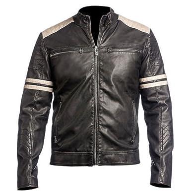 527cce330 NOVA Leather Jackets Mens Super Biker Vintage Motorcycle Stylish Leather  Jacket