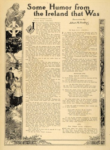 1913-article-ireland-humor-poems-uncle-toby-mrs-wadman-original-print-article