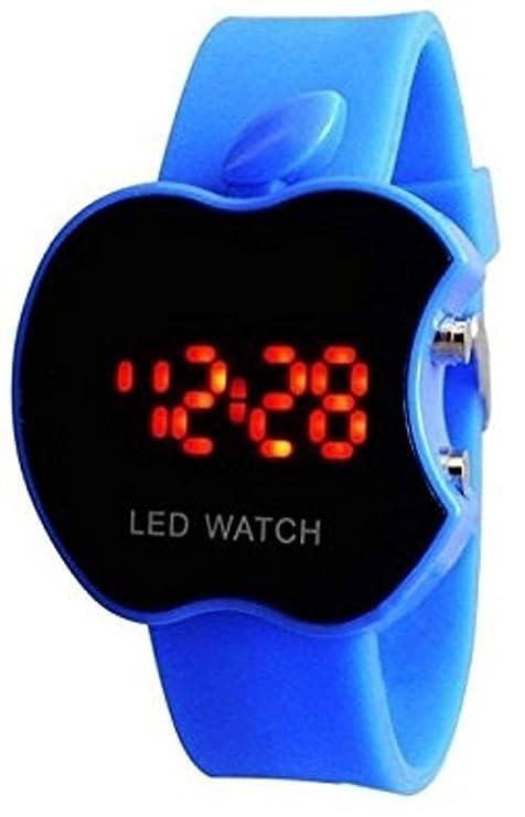 buycrafty negro Apple forma niños Digital LED reloj de pulsera regalo para los niños, niñas