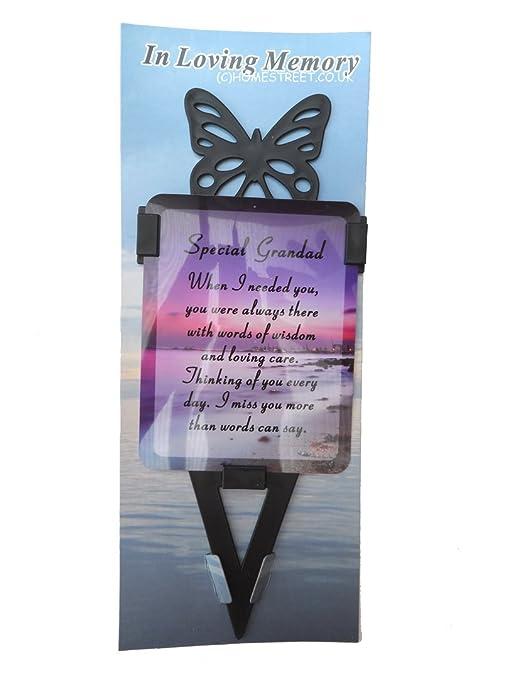 El abuelo Memorial tarjeta laminada con juego de soporte y mensaje ...