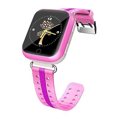 Teckey Q75 reloj inteligente de pulsera para niños sincronización de curso Niños Wikipedia GPS localizador anti