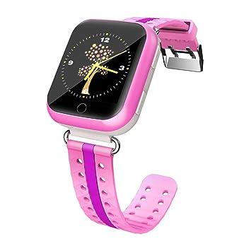 Teckey Montre Connectée pour Enfant Smartwatch Garçon Fille GPS Localisateur Téléphone Android IOS Safe SOS Appel