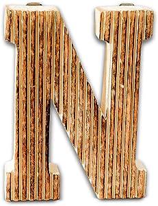 Kaizen Casa Decorative Wood Letter Alphabet Wall Hanging Décor (N)