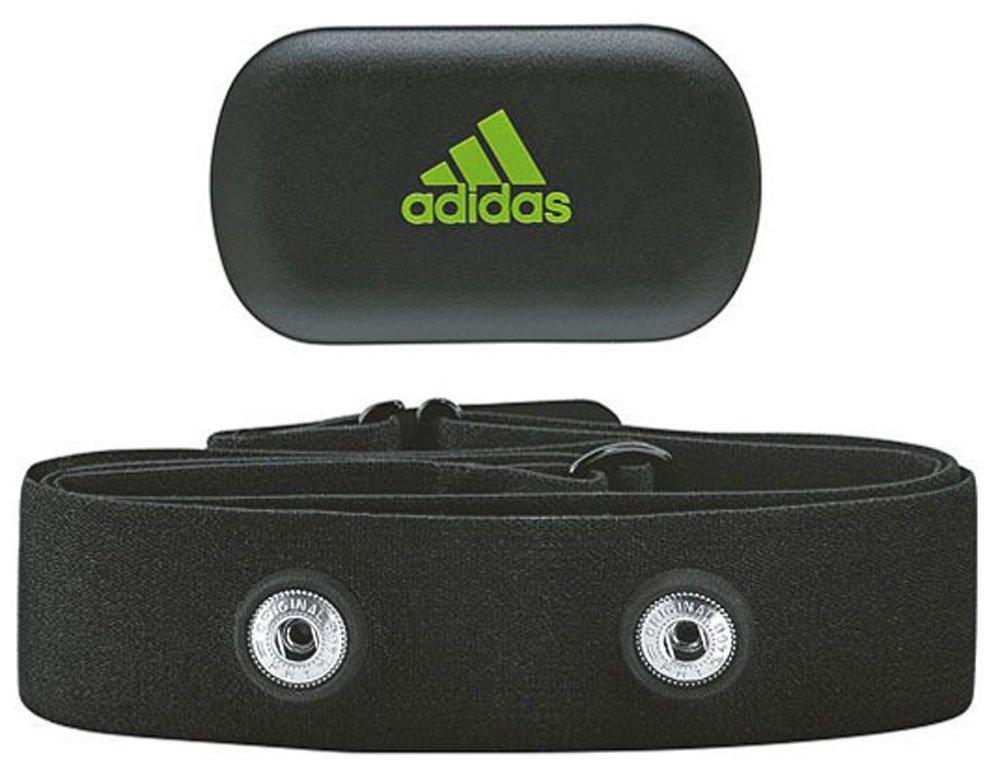 adidas HRM 2 And Strap - Monitor de ritmo cardiaco compatible con Bluetooth y cinta de sujeción de tela, color negro / verde Z51348