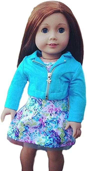 Lime Green Knit Hooded Jacket made for 18 inch American Girl Doll Clothes
