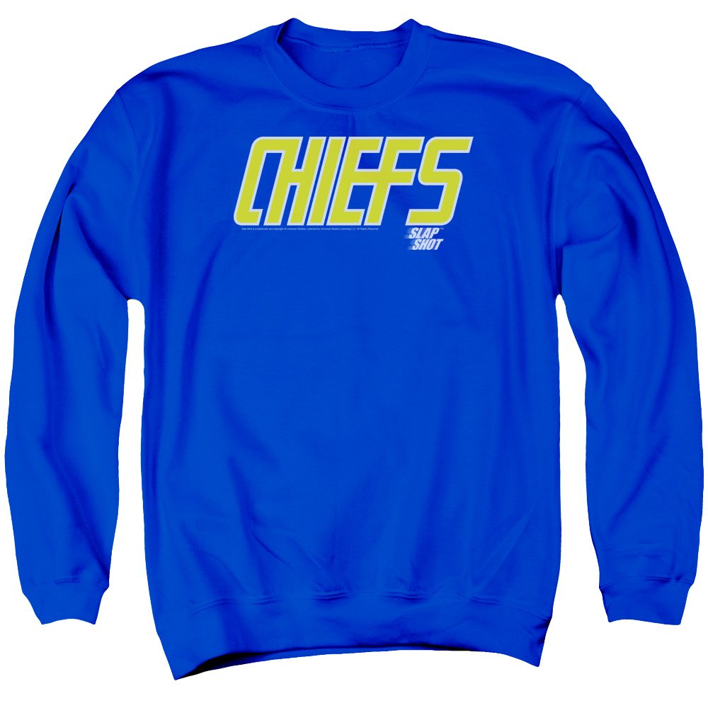 2Bhip Slap Shot Hockey Comedy Sports Movie Chiefs Logo Adult Crewneck Sweatshirt