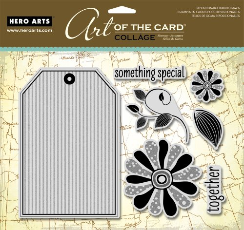 - Hero Arts Tag Collage Art of The Card Cling Stamps