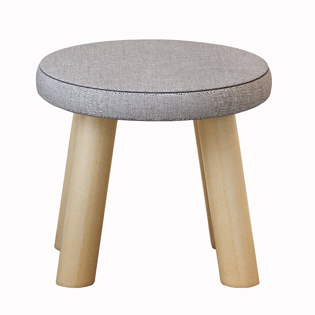 CAOYUSmall stool Solid wood stool, creative low stool, shoe bench, fabric sofa stool, portable fishing stool