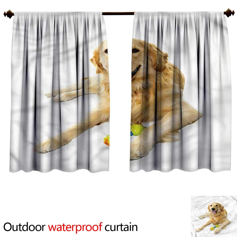 color01 W55\ color01 W55\ BlountDecor Curtain for outdoorAnti-Water W55 x L45(140cm x 115cm) golden Retriever,Pet Dog Toy