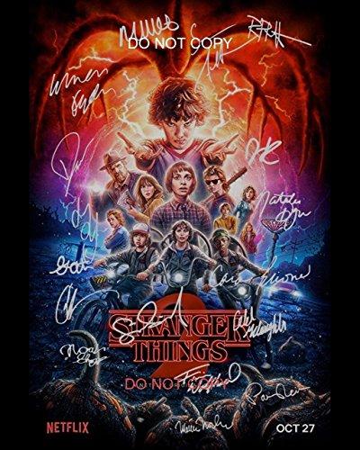Stranger Things Season 2 CAST Reprint SIGNED 8x10 photo RP Netflix TV Show from Loa_Autographs
