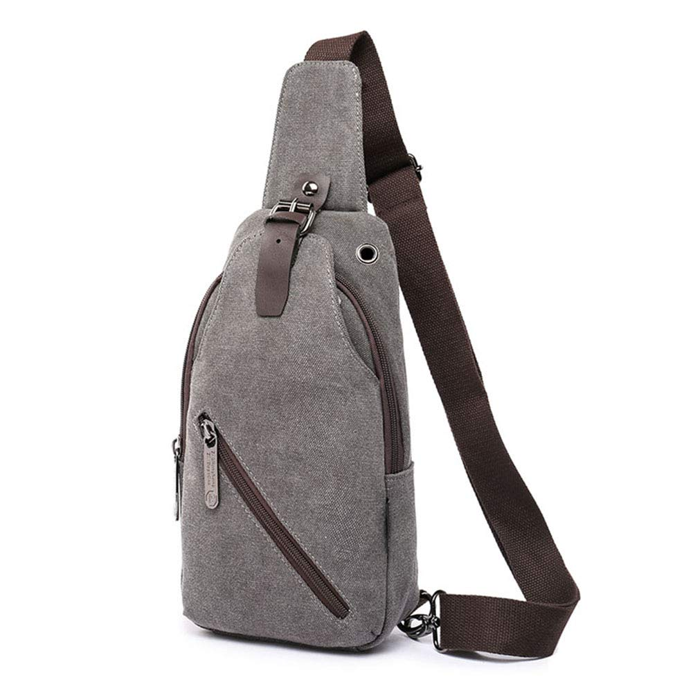 IDAND Sling Bag Chest Shoulder Backpack Crossbody Bags for Men Women Travel Outdoors