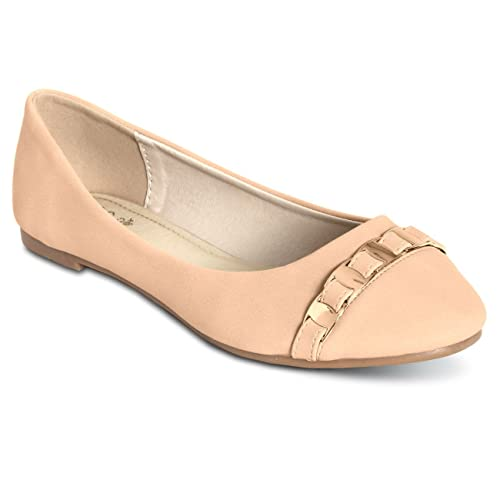 Noël fou saisir grand concours concours concours CASPAR Chaussures pour femme Ballerines élégantes avec chanette 9df84f