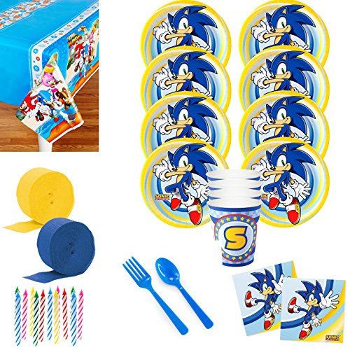 Costume SuperCenter Sonic the Hedgehog Deluxe Tableware Kit (Serves 8)]()