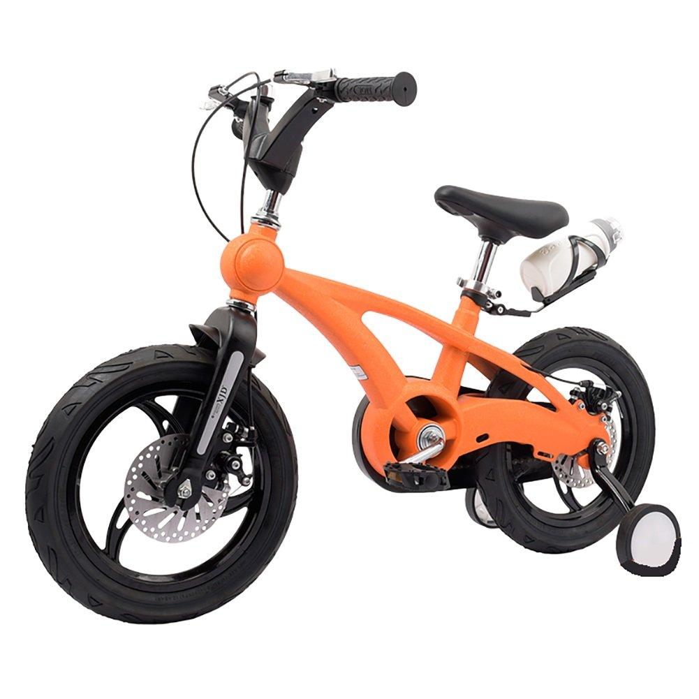 スクラブベビーマウンテンキャリッジボーイズ&ガールズキッズバイク14 16インチ3-4-6歳子供用自転車ワンホイールブルーオレンジレッドブラックゴールド B07DYFKGL5 14 inch|ブラック ブラック 14 inch