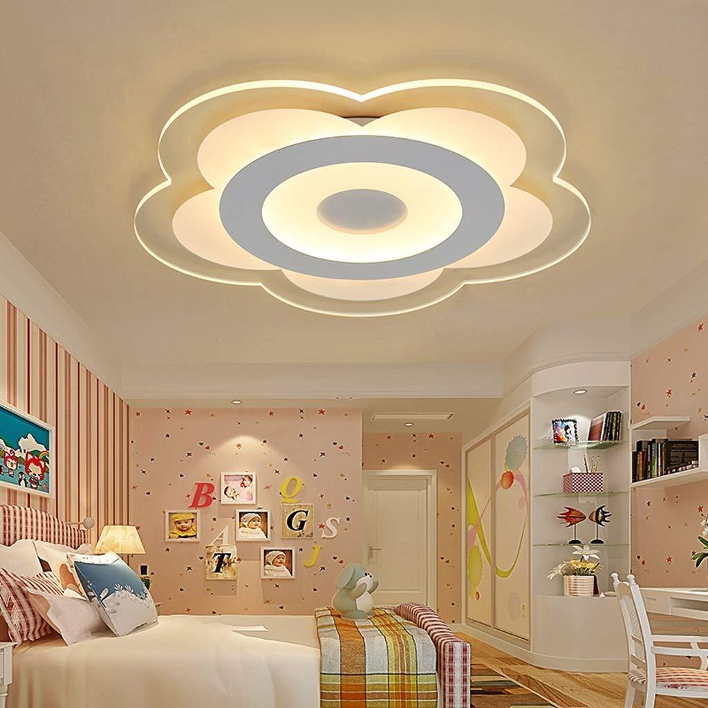 RXY-シーリングライト 暖かいロマンチックな寝室LEDの天井灯、簡単な花の形をした居間の子供部屋の漫画ランプ (サイズ : 62cm) B07Q59CS1J  62cm