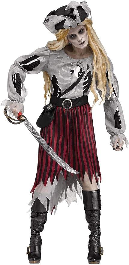 Generique - Disfraz Pirata Fantasma Halloween Mujer M / L: Amazon ...