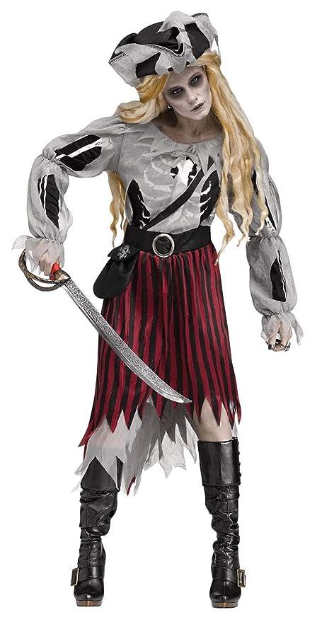 Generique - Disfraz Pirata Fantasma Halloween Mujer M / L ...