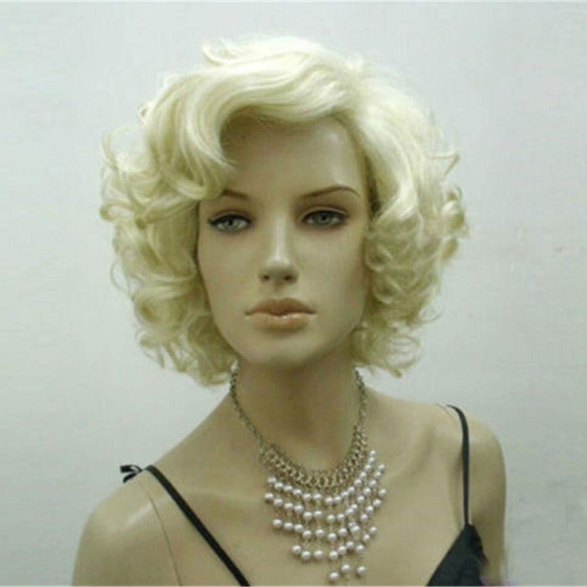 JohnnyBui - Peluca Rubia Marilyn Monroe wig Curly Wig ...