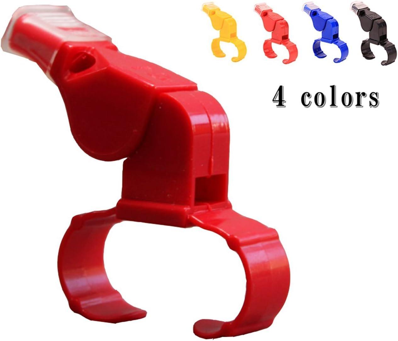 4 couleurs Sifflet darbitre de ZM Pealess avec le doigt officiel darbitre de main de main et dentra/îneur tenu pour le match de football survie dans la nature