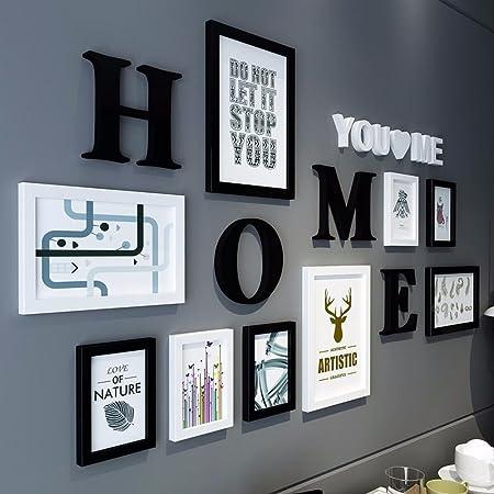 WUXK /Le foto nel soggiorno parete decorazione creativa combinazione parete moderno minimalista photo frame parete parete un tutto nero
