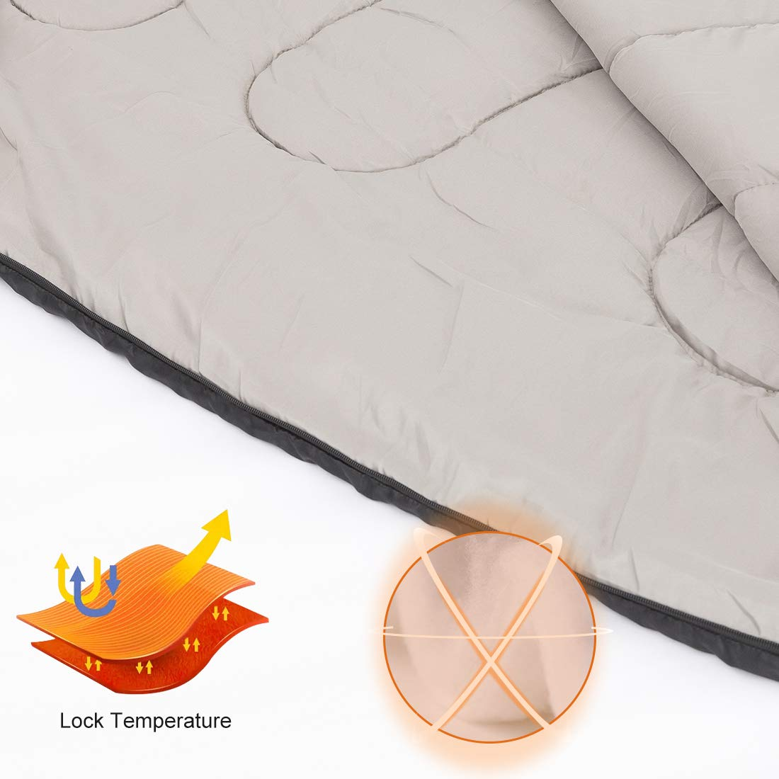 Indoor Outdoor Use Waterproof Portable Lightweight for Camping Backpacking Hiking WDNZ1976 Wantdo Mummy Sleeping Bag for Cold Weather 17.6-59 Fahrenheit 3-4 Season Windproof