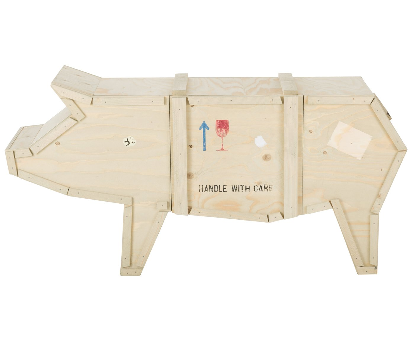 Seletti pig sending animals furniture console wood natural beech 150 x 44 x 76 cm amazon co uk kitchen home