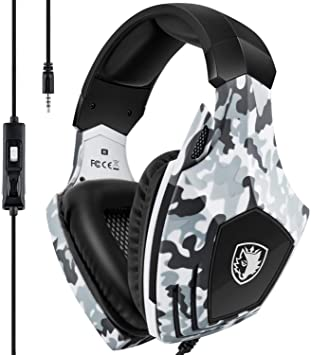 Xbox One Gaming Headset,SADES Stereo PC PS4 Gaming Headset with Microphone Noise Cancelling Over Ear Gaming Headphones with Soft Memory Earmuffs for