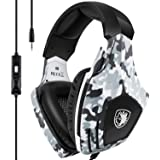 Xbox One Gaming Headset,SADES Stereo PC PS4 Gaming Headset with Microphone Noise Cancelling Over Ear Gaming Headphones with S