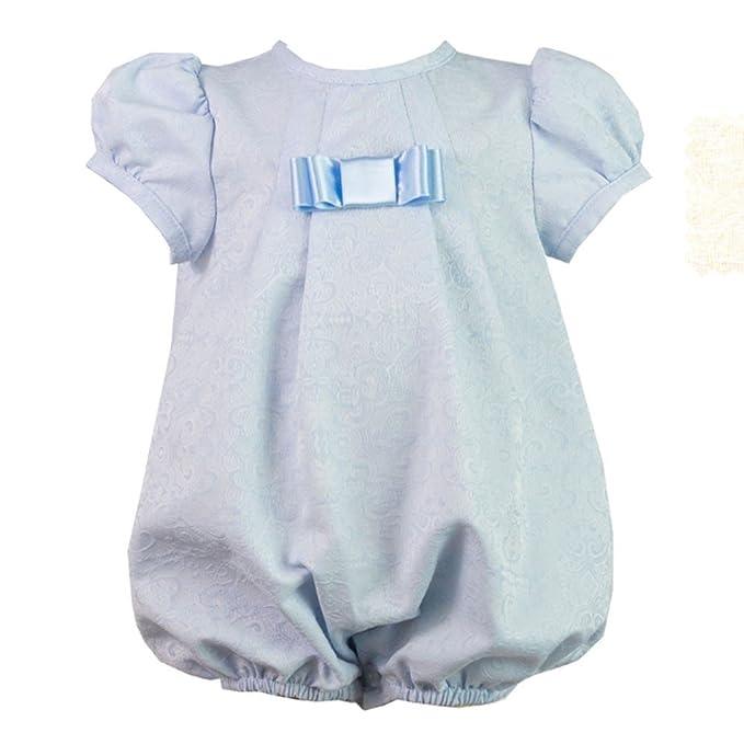 ALBER - Pelele Bebe bebé-niños Color: Celeste Talla: 1