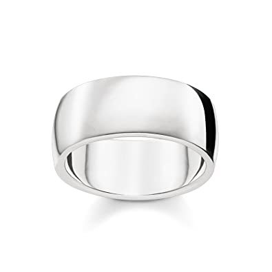 df23763affe0 Thomas Sabo Unisex Ring Classic 925 Sterling Silver TR2116-001-12   Amazon.co.uk  Jewellery