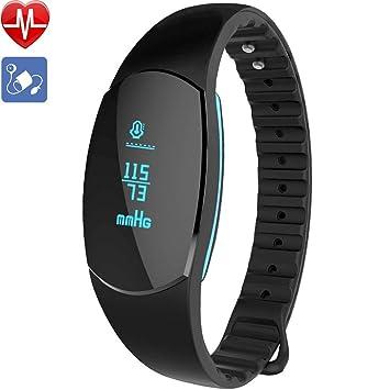Willful - Pulsera de actividad con reloj, tensiómetro, pulsómetro y podómetro, impermeable IP67, para hombre o mujer, para Android: Amazon.es: Electrónica