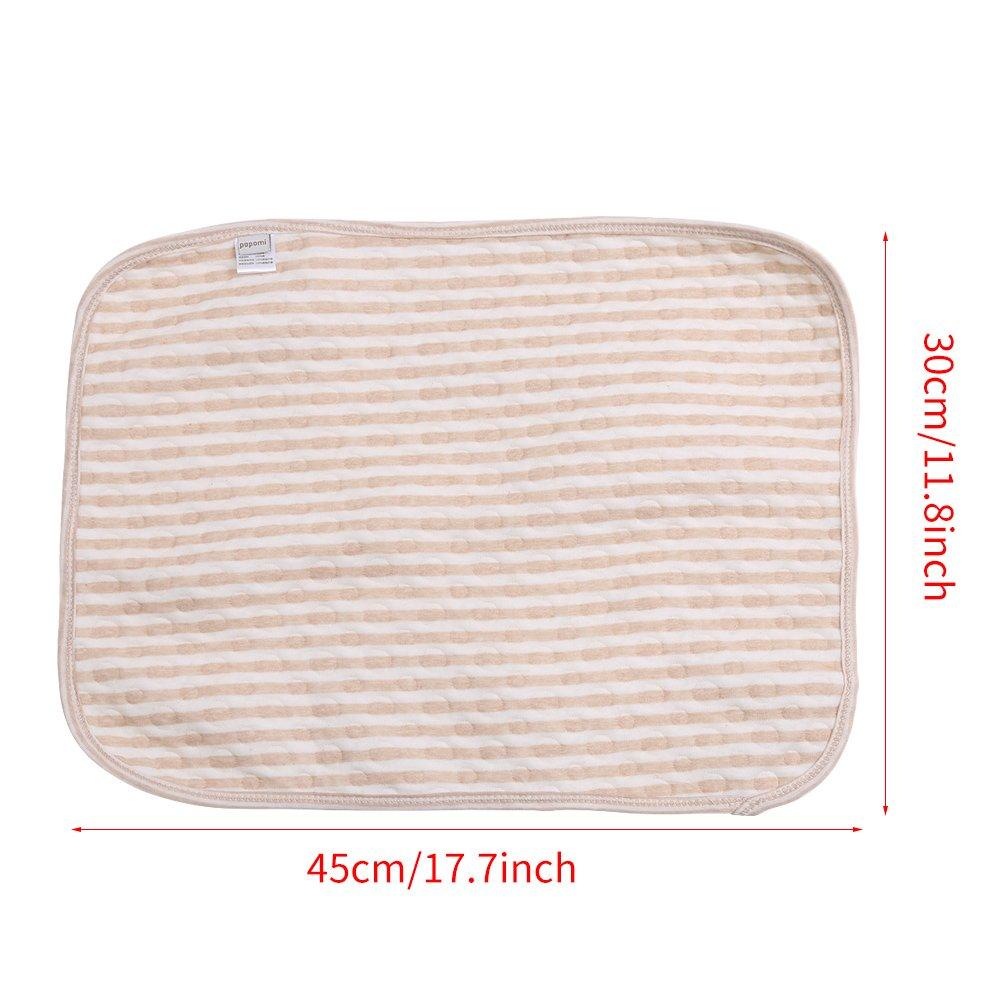 Housse pour table /à langer pour b/éb/é De 100/% Coton multifonction Coussin chauffant disolement Portable imperm/éable pour b/éb/é Lavable Pad S-30*45cm