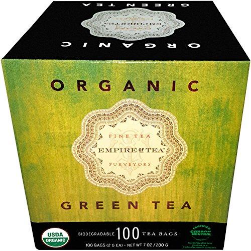 Empire of Tea USDA Organic Green Individually Wrapped Bulk Tea Bags, 100 Count