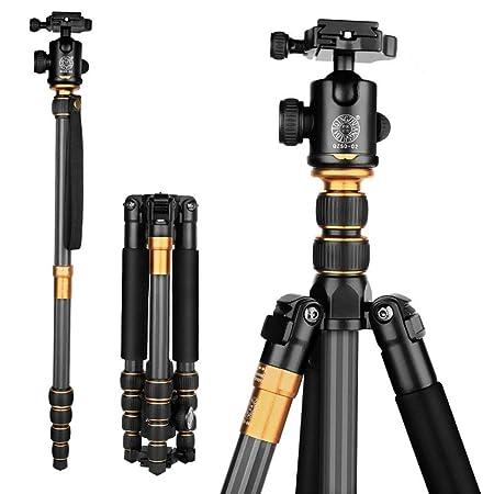 Hnks Q666C - Trípode de Fibra de Carbono para cámara réflex ...