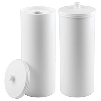 Amazon Com Mdesign Plastic Free Standing Toilet Paper Holder