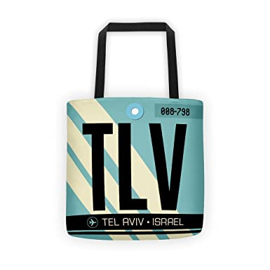 f0f81f1a77 Amazon.com | TLV - Airport Code Tote Bag | Travel Totes