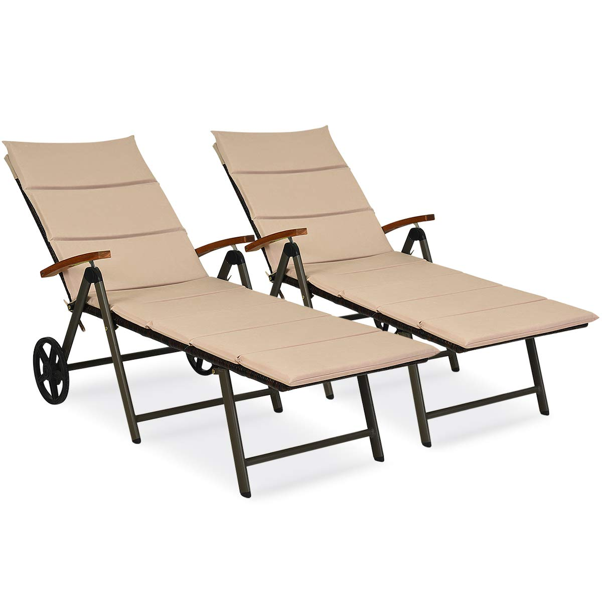 Round Folding Dining Table, Tangkula Outdoor Chaise Lounge Chair Al Buy Online In Japan At Desertcart