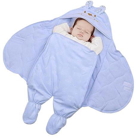 Manta para bebé/Arrullo/Manta Algodón para 0 - 12 meses Invierno autumn and winter blue Talla:75*75: Amazon.es: Bebé