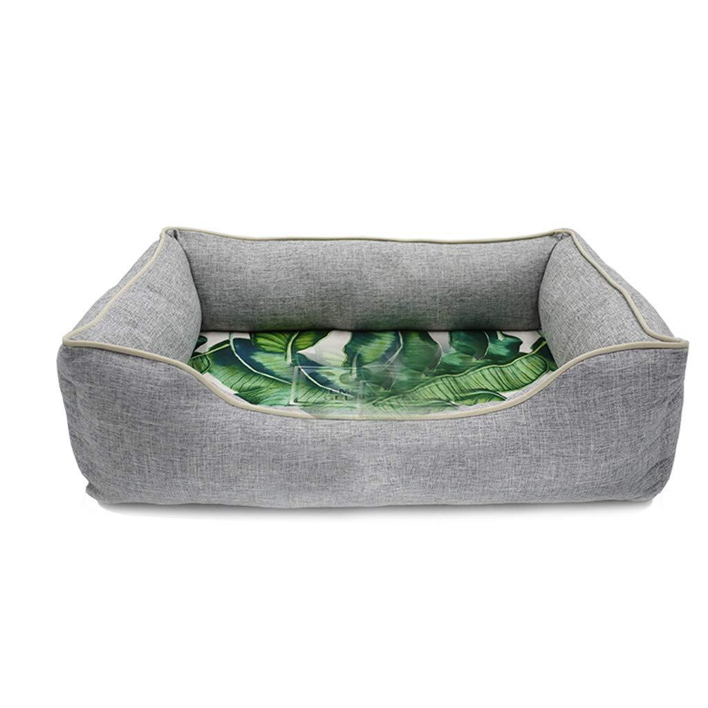 猫のトイレ猫 グレー冷却ゲルペット巣四季ユニバーサル完全に取り外し可能と洗える長方形中小ベルベット犬猫のトイレ砂のベッドヴィラ暖かい 小屋犬犬小屋犬小屋に犬小屋 (サイズ さいず : M(20 kg pet)) B07PFHNLD5  S(10 kg inside pet) S(10 kg inside pet)