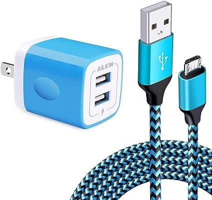 Amazon.com: Cargador de pared USB, adaptador de carga ...