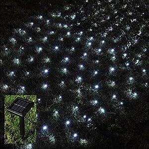 Outdoor Fairy Lights Solar Powered: Babz 105 LED OUTDOOR NET STRING CHRISTMAS FAIRY LIGHTS SOLAR POWERED GARDEN,Lighting