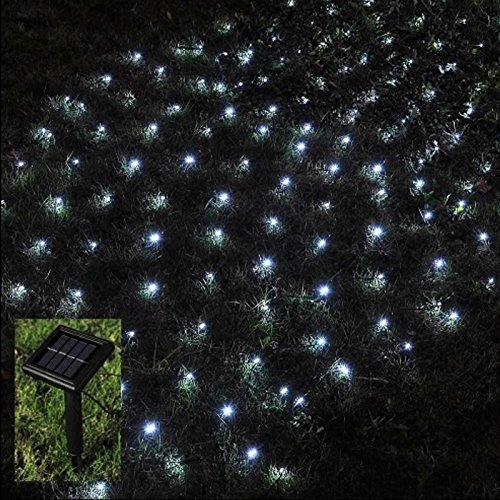 Babz 105 led outdoor net string christmas fairy lights solar powered babz 105 led outdoor net string christmas fairy lights solar powered garden amazon kitchen home aloadofball Gallery