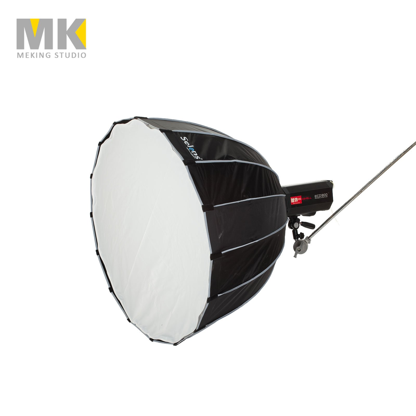 Selens Parabolic Softbox 75 inches / 190 Centimeters, Hexadecagon Deep Portable and Quick Folding Softbox Diffuser with Bowen Mounts for Studio Light and Speedlite Flash by Selens (Image #2)