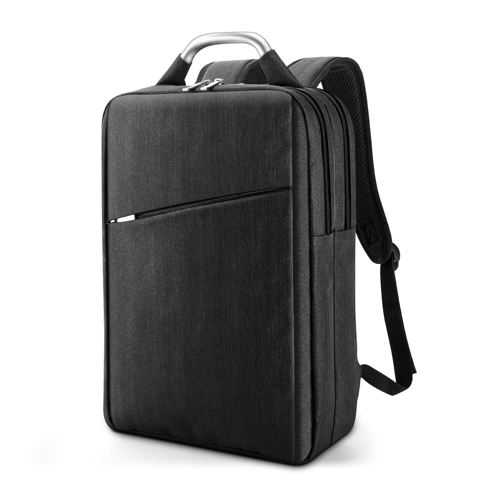 Laptop Backpack, Multi-Compartments Business Laptop Bag, Lightweight Slim College School Backpack for Women & Men (Black)