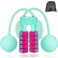 Cordless Jump Rope, Skipping Touw voor vrouwen, mannen, Heavy Jump Rope met verstelbare Bold PVC touw, Ball Bearing…