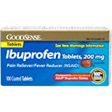 GoodSense Ibuprofen Pain Reliever/Fever Reducer Tablets (NSAID), 200 mg, 100 Count