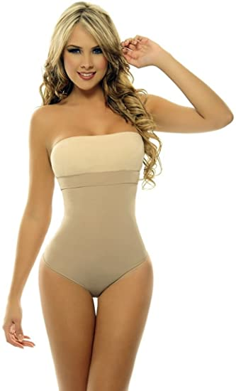 81664e5ec0454 Image Unavailable. Image not available for. Color  ShapEager Shapewear Lycra  - Nylon Body Braless Strapless Panty Type corset Waist